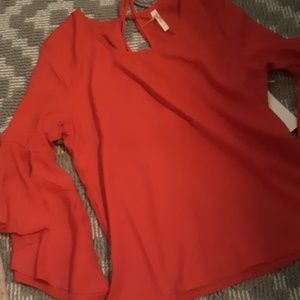 Red boutique top